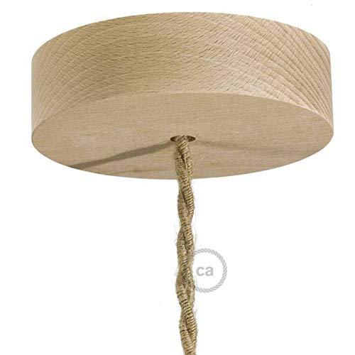 creative cables Lampenbaldachin Kit aus Holz - Neutral