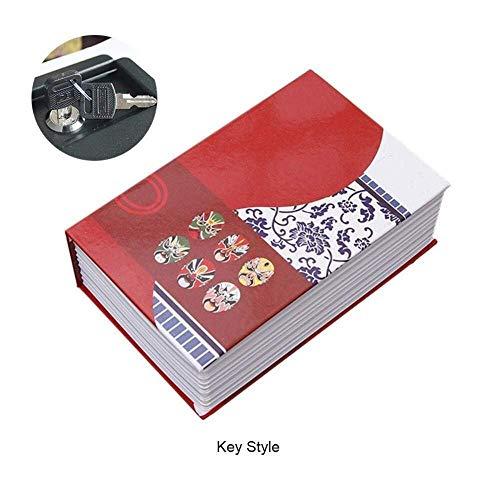 cerradura de combinaci/ón de la contrase/ña ocultada Caja fuerte creativa del libro ROSA armario de almacenamiento privado de los objetos de valor de la joyer/ía