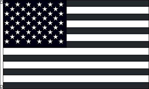 AZ FLAG Flagge USA SCHWARZ UND WEIß 150x90cm - VEREINIGTEN Staaten VON Amerika Fahne 90 x 150 cm - flaggen Top Qualität