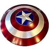 PRETAY Escudo de Vestuario de Capitán América, 1: 1 Apoyos de Película Escudo Capitan America,Niños Capitán América Disfraz Shield para niños y fanáticos de Cospiay,58cm