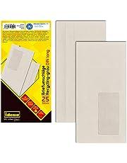 Idena 10544 - koperty format DIN długie, recyklingowane, samoprzylepne, z okienkiem, 75 g/m², 25 sztuk
