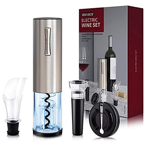 Kit de abridor de botellas de vino eléctrico, sacacorchos automático recargable que...