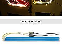 車のledデイタイムランニングライト柔軟なソフトガイドストリップ 12 ダイナミックセルスバルフォレスターwrx xv用のウインカーレガシィbrz-red, 60cm