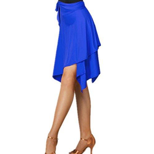 YOUMU Frauen Ballsaal Latein Salsa Tango Dance Rock Kleid Skate Wrap Schal Dancewear