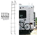 ECOTRIC Universal Exterior RV Ladder Aluminium Silver (7 Step Ladder)