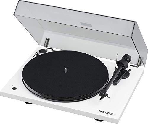 "Pro-Ject Essential III SB, Audiophiler ""Best Buy"" Plattenspieler mit elektronischer Geschwindigkeitsumschaltung (Weiß)"
