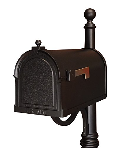 Special Lite Products SCB-1015-BLK Berkshire Curbside Mailbox, Black