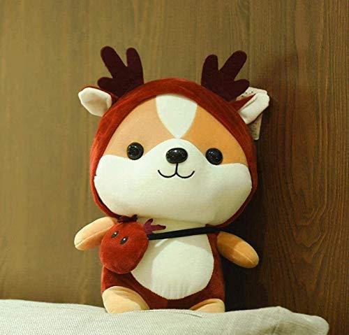 Knuffel Knuffel Schattige Eekhoorn Pop Leuke Gedraaide Dinosaurus Knuffel Pop Verjaardagscadeau Rag Doll Crimson 40 Cm