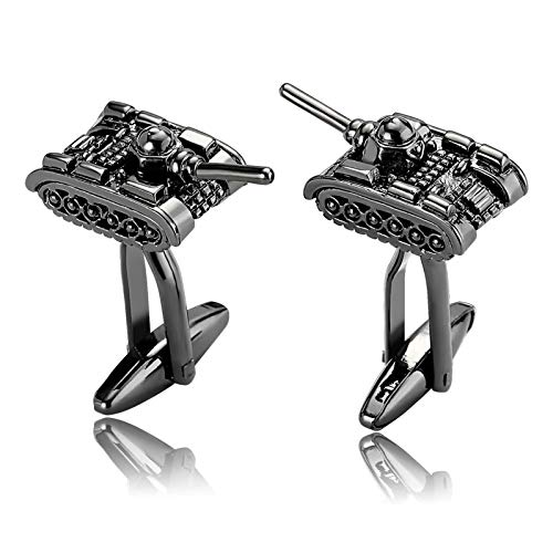 Ubestlove Personalised Gifts Quality Street Tank Shirt Cufflinks Stainless Steel for Boys Silver