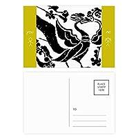 中国の魏晋の鳥のパターン 友人のポストカードセットサンクスカード郵送側20個