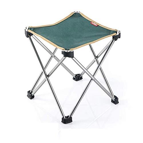 YLCJ Vouwen outdoor recreatieve campingstoel, Vouwen aluminium kruk, Lichtgewicht campingkruk met platte voet stabiliteit en draagtas (houd tot 100 kg) (kleur: zwart, grootte: 25 * 25 * 28 cm) 25*25*28 CM Groen