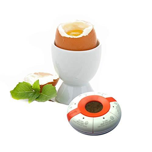Aubecq 500293 Minuteur Solaire à œuf/thé, Plastique, Blanc,