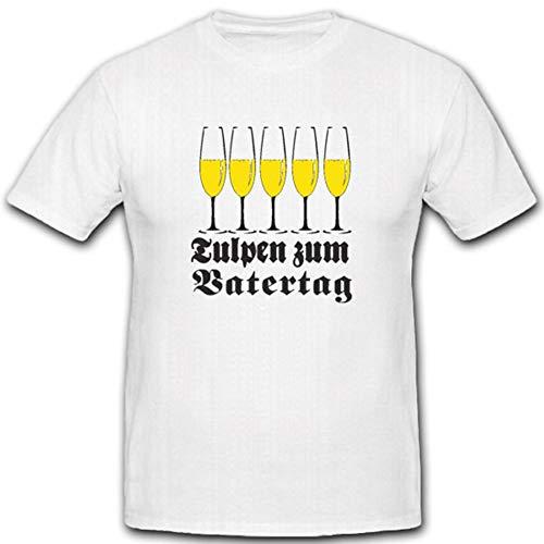Copytec 2187 T-Shirt Tulp Vaderdag bier viering champagnebril cadeau