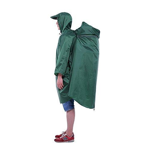 Adventure World Globotrekker Lightweight Backpack Poncho (Multiple Color Options Available) (Forest Green)
