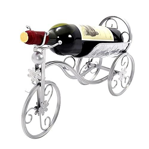 LahAd Wine Rack Estanteria Metalica Botellero Vino Vertical Botelleros Y Armarios para Vino Vitrina Botellero Silver