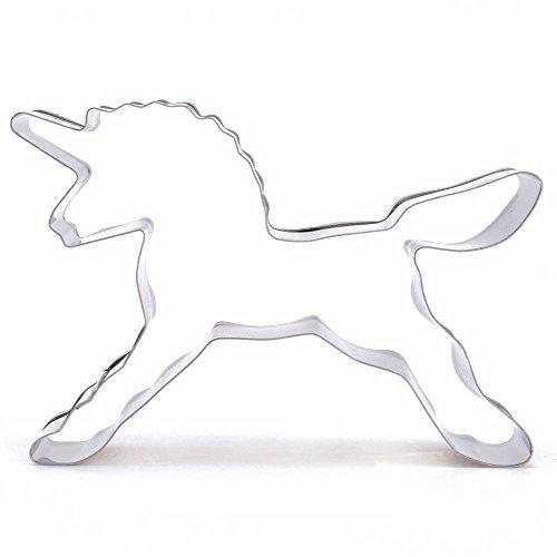 Feililong 1pcs Cavallo Unicorno fondente decorazione in acciaio inox per biscotti torte casa per biscotti