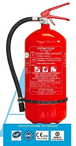 Extincteur 6 litres à eau pulvérisée avec additif + support fixation Norme CE