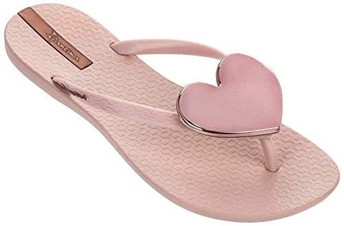 Ipanema - infradito da donna Wave Heart, colore: beige/nero, Rosa (rosa.), 38 EU