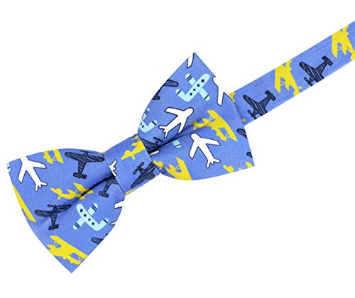 OCIA Funny Pattern Pre-tied Bow Tie Cotton Adjustable Bowtie for Mens & Boys – Various Patterns