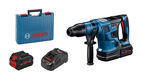 Bosch Profesional BITURBO GBH 18V-36 C c. Rotary Hammer (w. SDS max, incl. 2 x ProCORE18V 5.5Ah, GAL 1880 CV Rapid chgr, GCY 42 Bluetooth mod, aux. Hand, Machine Cloth, Tube of lub,Carrying case)