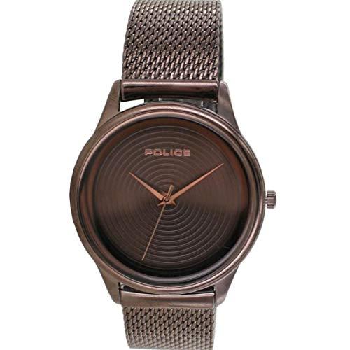 Police Unisex Erwachsene Analog Quarz Uhr mit Edelstahl Armband PL15524JSBN.12MM