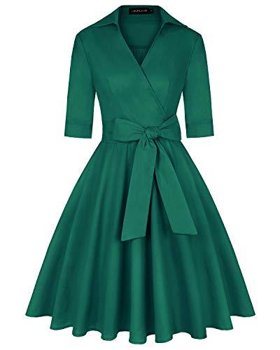 MINTLIMIT 1950er Swing Kleid Damen Tinkerbell Kleider Festlich Sixties Damenkleider Grün XXL