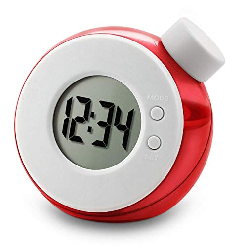 Yxxc Reloj Retro -Reloj de Soporte Relojes de Escritorio Reloj de Mesa con Pilas Sala de Estar Noche Pantalla Visible Dormitorio Luz de Noche Reloj despert