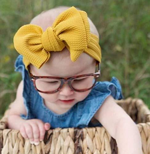 Hpybest Baby Strik Hoofdband Gebreid Katoen Kinderen Meisjes Elastische Haarbanden Turban voor Meisje Hoofdbanden Zomer