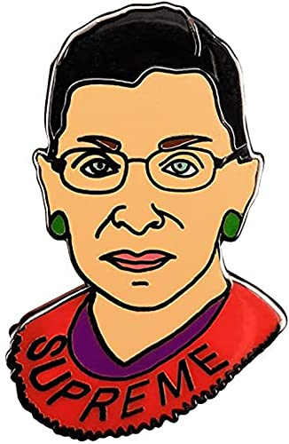 AOTEMAN Insignia de mujer de Supreme Ruth Bader Ginsburg Notorious RBG feministas