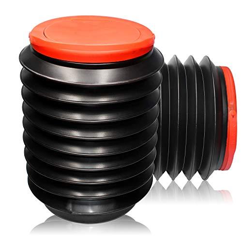 ZHANChen - Cubo de basura para coche, resistente al agua, plegable, con tapa, portátil, cubo telescópico, 4 L