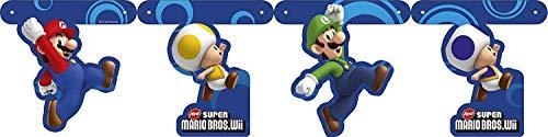 Guirlande papier Mario Bros - Taille Unique