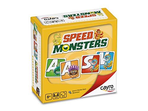 Cayro - Speed Monsters - Juego Palabras y Desarrollo lingüístico - Juego de Mesa - Desarrollo de Memoria y expresión Verbal y comunicación - Juego de Mesa (7018)