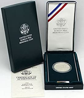 1991 P Korean War Memorial Coin Comes in original US mint packaging Dollar Proof Condition