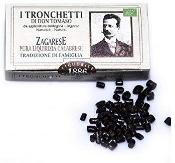 Tronchetti di liquirizia calabrese biologica 100 g - 3 confezioni