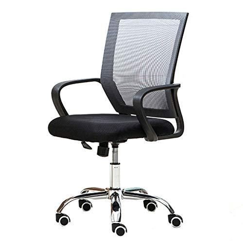 Atmungsaktiver Mesh Staff Office Chair, ergonomisches Design, Rebound-Schwamm, kann 500 kg tragen, geeignet für Büroangestellte, schwarz