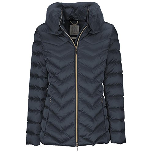 Geox Damen Jacke Woman Down Jacket, Blau (Dark Navy F4300), Gr. 40 (Herstellergröße: 46)