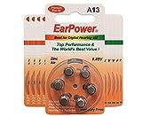 EarPower 13 - Batterie per apparecchi acustici, confezione da 10 (10 blister da 6 batterie...