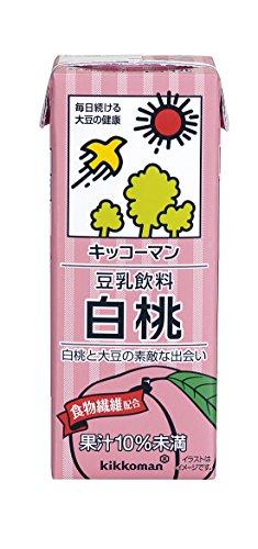 豆乳飲料 白桃 200ml×18本 紙パック