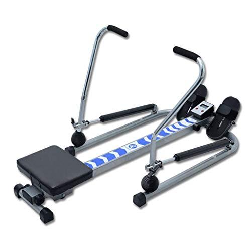 WSYGHP Maschinenkompakter Indoor-Ruderer, einstellbare Rudermaschine mit HD-Datendial, Kurbel kann heruntergeklappt Werden, um den Platz zu sparen, geeignet für den Innengymnastik Übungsbänder