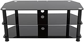 AVF SDC1140CMBB-A Media Component TV Stand with Cable Management for up to 55