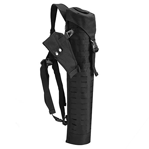 PELLOR Oxford Hunting Archery Quiver with Shoulder Strap Wide Tube for Back or Waist Use