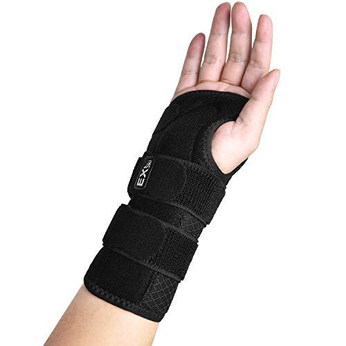 EXski Handgelenk Schienen Bandage Karpaltunnelsyndrom Handbandage Handgelenkstütze Zur Linderung von Sehnenentzündungen und Schmerzen am Handschiene Links Rechts Hand mit Kompressionsband
