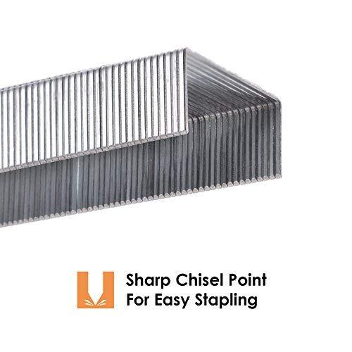 MROCO Staples 8000 Pcs Standard Staples Premium Staples 1/4 Length 20 Sheet Capacity 100/Strip Staples, 1000/ Box Photo #3