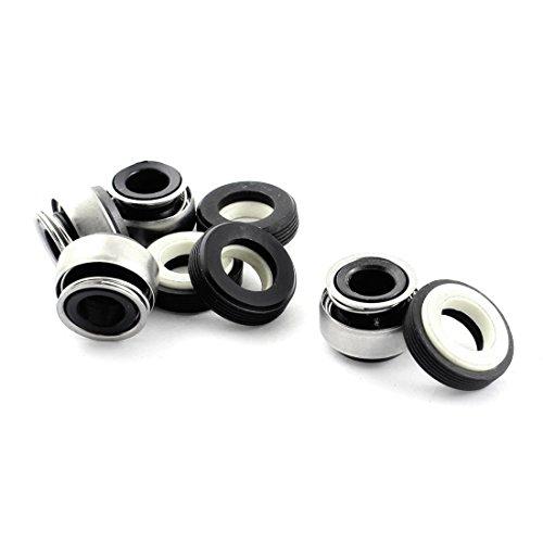 4pcs del resorte de fuelle de goma de 15 mm interno Dia sellos mecánicos
