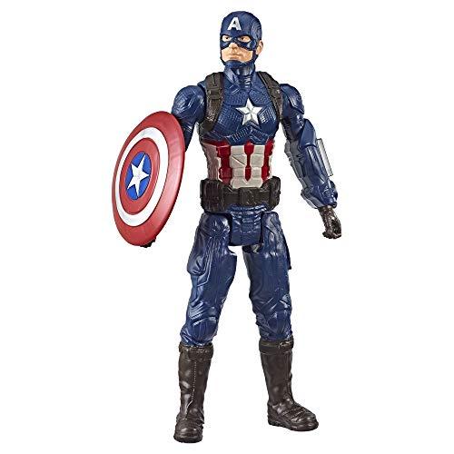 Boneco Marvel Avengers Titan Hero 2.0 Capitão América - Figura de 30 centímetros - E3919 - Hasbro