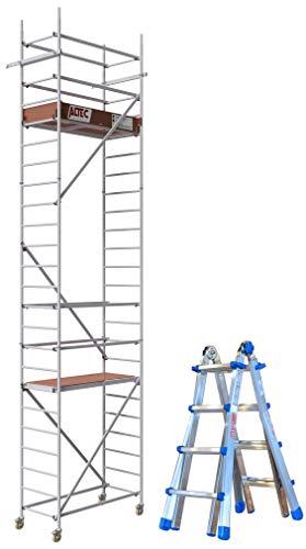 Set ALTEC Rollfix® 2.0 700 Rollgerüst und Teleskopleiter Equipe EQU44