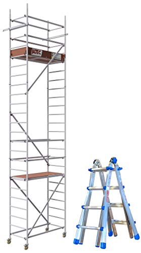 Set ALTEC Rollfix 2.0 700 Rollgerüst und Teleskopleiter Equipe EQU44
