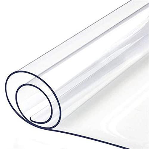 HHUU Mantel de PVC transparente, cojín de mesa de 1,5 mm de grosor, tejido de vidrio suave, protector de mesa de PVC, protector de mesa de comedor, resistente al agua, mínimo Geru 50 x 110 cm