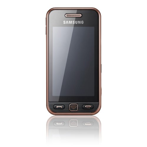 Samsung Star S5230 Smartphone (Touchscreen, 3MP Kamera, Video, MP3-Player, Bluetooth) black gold