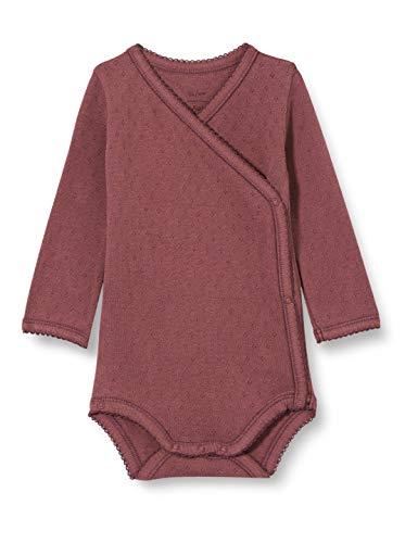 Noa Noa Miniature Basic Doria, Baby Body,Long Sleeve Camisa, Morado, 3 Meses para Bebés